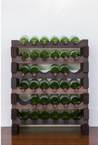 6 Layers of 6 Bottles Wine Rack Finish: Stained