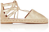 Aquazzura Women's Belgravia Lace-Up Espadrilles-GOLD