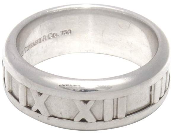 Tiffany & Co. 18K White Gold Atlas Band Ring 2003