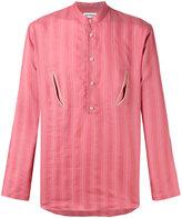 Umit Benan floral back shirt
