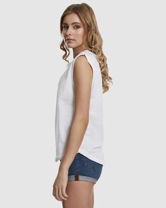 Urban Classics Women's White Basic T-Shirts - UC Ladies Basic Shaped Tee - Size One Size, S at The Iconic