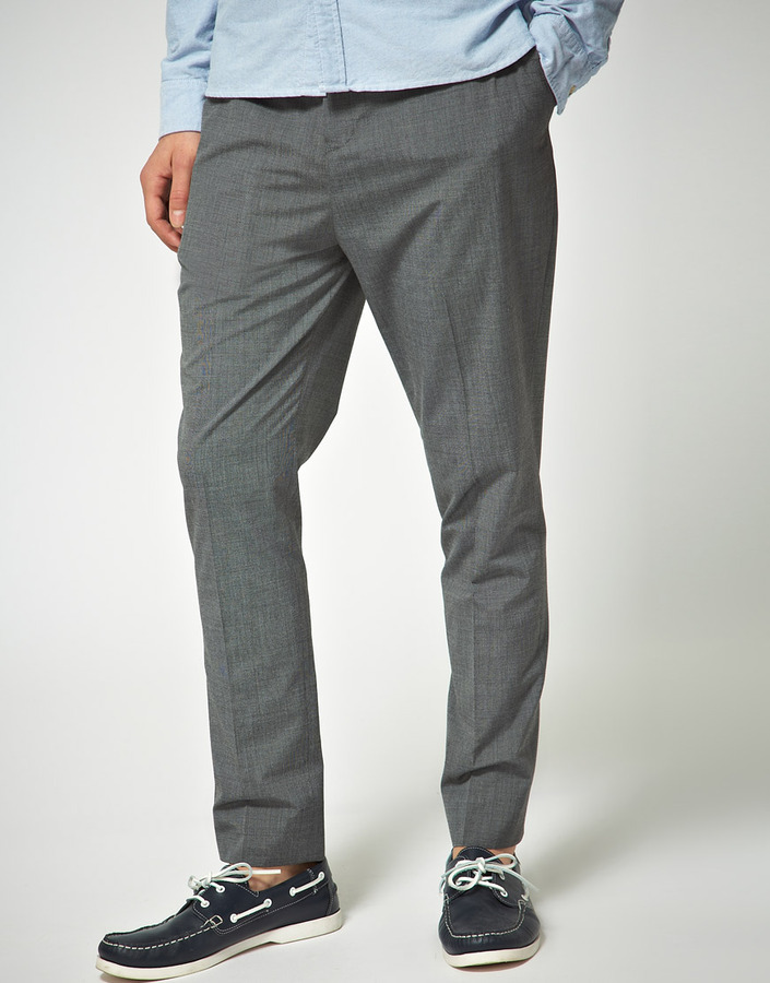 Asos Slim Fit Gray Smart Pants