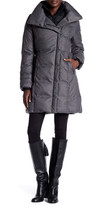 Soia & Kyo Faux Sheepskin Fur Trim Brushed Down Puffer