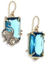 Alexis Bittar Elements Blue Spinel & Crystal Spider Drop Earrings