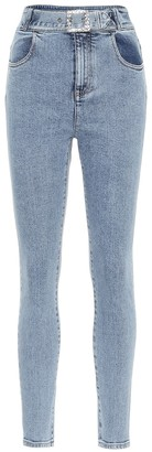 Alessandra Rich Embellished high-rise skinny jeans