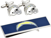 Cufflinks Inc. Men's San Diego Chargers Cufflinks and Money Clip Set