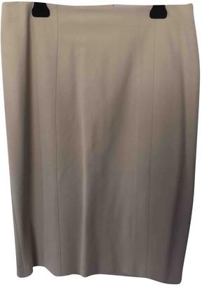 Armani Collezioni Ecru Cotton - elasthane Skirt for Women