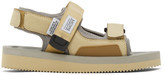Suicoke Beige and Grey Was-V Sandals