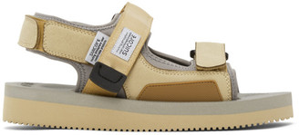 Suicoke Beige and Grey Was-V Sandals