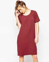 Ichi Short Sleeve Pencil Midi Dress