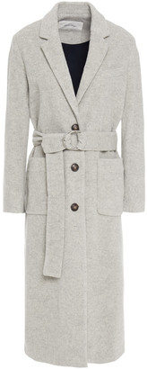 American Vintage Louping Belted Melange Wool-blend Felt Coat