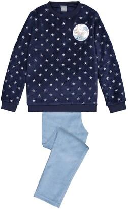 Frozen Printed Fleece Pyjamas, 3-12 Years