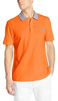 Lacoste Men's Short Sleeve Mini Pique Regular Fit Caviar Croc Polo Shirt