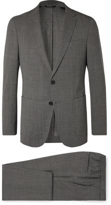 HUGO BOSS Grey Slim-Fit Puppytooth Virgin Wool Suit