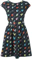 Jeremy Scott guitar print dress - women - Cotton - 40