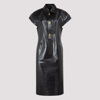 Bottega Veneta Leather Midi Dress