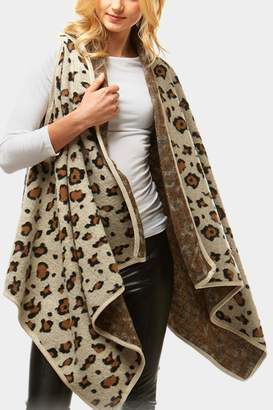Embellish Leopard Long Vest