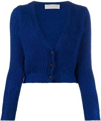 Chiara Bertani Cropped Knitted Cardigan