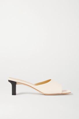 AEYDĒ Katti Leather Mules - Off-white