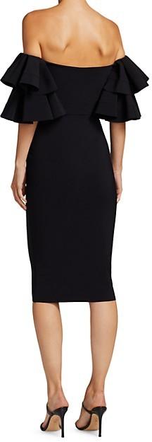 Thumbnail for your product : Chiara Boni Parvati Off-The-Shoulder Ruffle Bodycon Dress