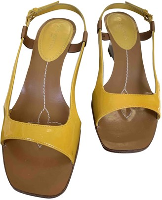 Louis Vuitton Yellow Patent leather Sandals