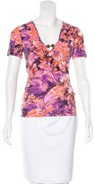 Just Cavalli Embellished Floral Print T-Shirt