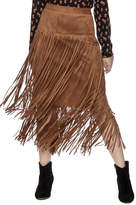 IC Collection Long Fringe Skirt