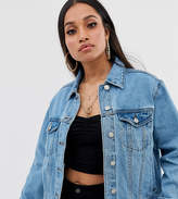 Missguided Petite Oversized Denim Jacket