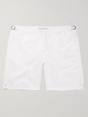Orlebar Brown Dane Long-Length Swim Shorts - Men - White