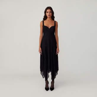 Fame & Partners Fitted Godet Dress