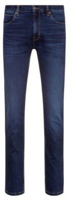 HUGO Slim-fit jeans in lasered stretch denim