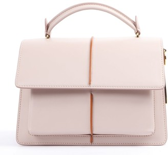 Marni Pink Leather Attache Tote Bag