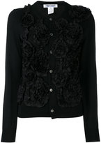 Comme des Garcons embroidered cardigan - women - Cotton/Polyester/Wool - M