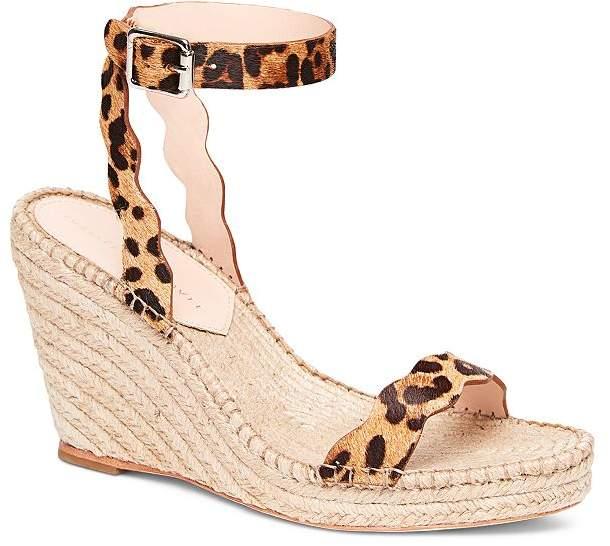 ff4f09faf1dee Women's Parker Leopard-Print Calf Hair Espadrille Wedge Sandals