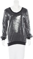 Alexis Sequined Long Sleeve Top