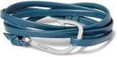 Miansai Hook Leather and Silver-Tone Wrap Bracelet