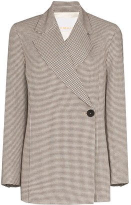 REMAIN Viv checked double-breasted blazer