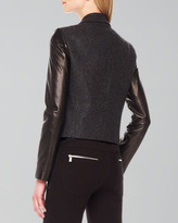 Michael Kors Leather-Sleeve Blazer