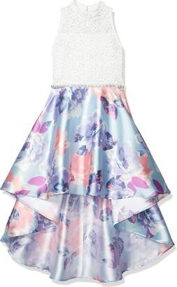 Speechless Girls' Party Dress with Dramatic High-Low Taffeta Skirt