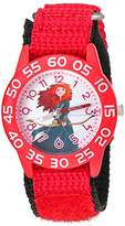 Disney Girl's 'Merida' Quartz Plastic and Nylon Watch, Color:Red (Model: W002975)