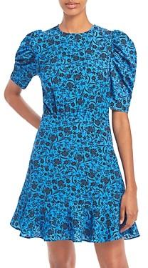 Aqua Printed Puff Sleeve Dress - 100% Exclusive