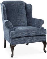 One Kings Lane Alstead Wingback Chair - Steel Blue