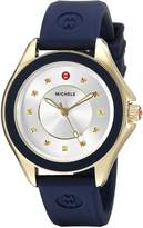 Michele Women's MWW27A000013 Cape -Tone Stainless Steel Watch with Navy Blue Band