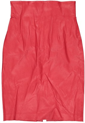 N. The Perfext \N Red Leather Skirts