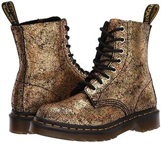 Dr. Martens 1460 Iridescent Croc Print (Gold) Women's Lace-up Boots