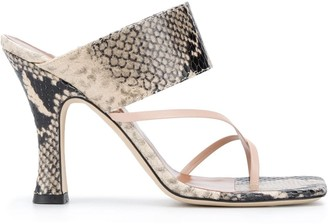 Paris Texas Toes Strap Heeled Sandals
