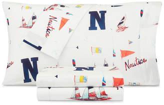 Nautica Sketchy Ships Twin Xl Sheet Set Bedding