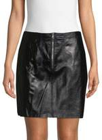 Ray Leather Mini Skirt
