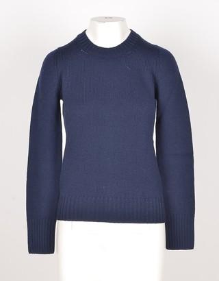 Bruno Manetti Night Blue Wool, Silk and Cashmere Women's Sweater
