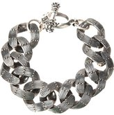 King Baby Studio textured chain link bracelet